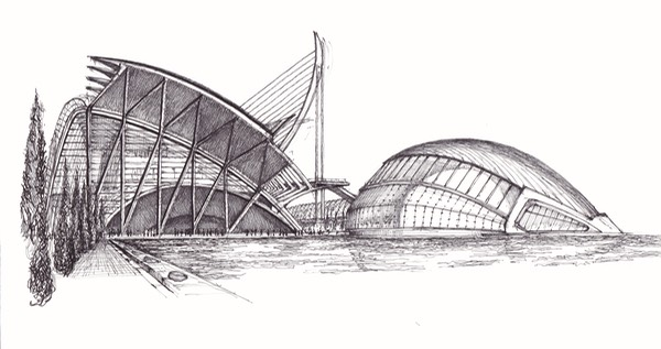 Valencia Calatrava Science Museum And L Hemisferic